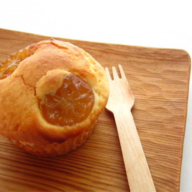 金柑とクリームチーズのマフィン