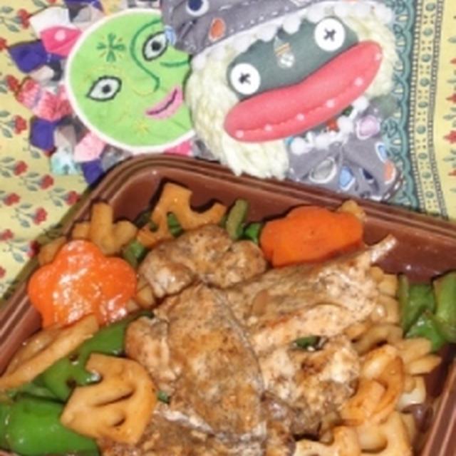 豚肉と蓮根のオイスター炒め&しらたきのコチュジャン炒め(お家カフェ)