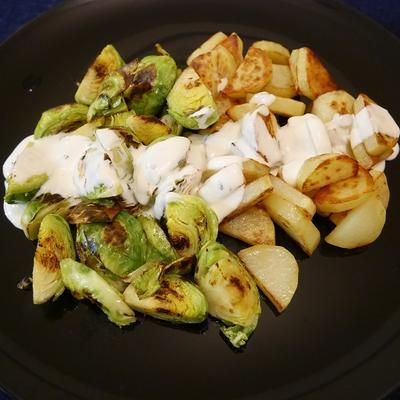 芽キャベツとポテトの温サラダ