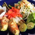 ■ランチメニュー・ホットサラダ【アボガドとアスパラのベーコン巻き焼き】