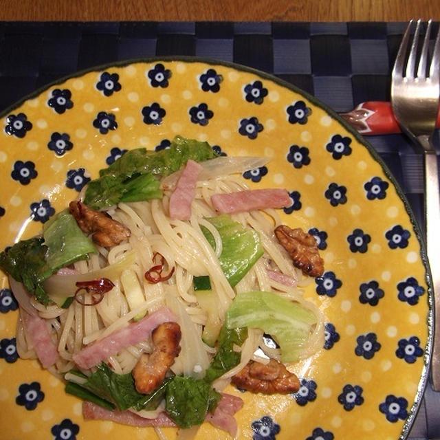 くるみ&ハム&野菜のパスタ