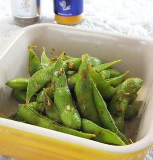 カレー風味の枝豆