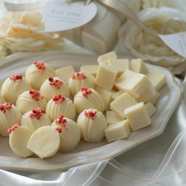ラム香るホワイトチョコのトリュフ