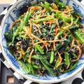 【5分de簡単】♡ほうれん草と人参の海苔ナムル♡レシピあり♡