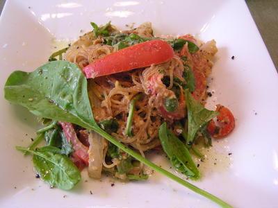 ひよこ豆の味噌フムスで・・・春雨サラダ