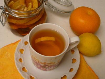 はっさく&レモンの自家製フルーツブランデーDEフルーティー紅茶