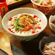 手崩し豆腐と豆乳の中華風スープ