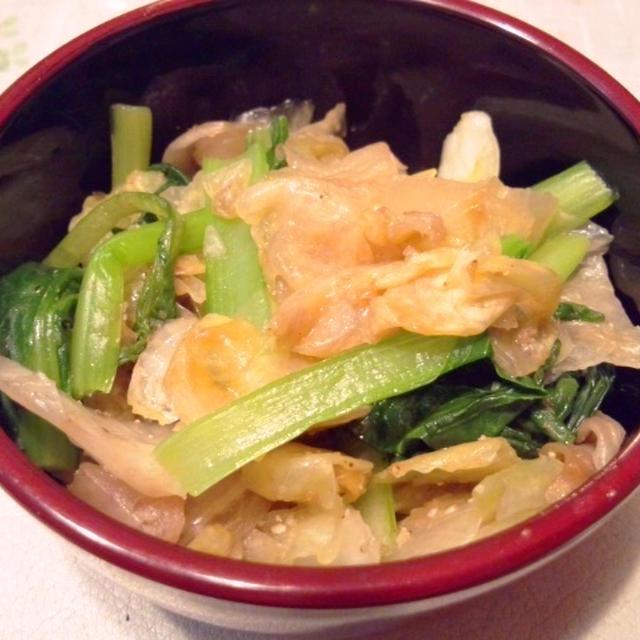Manic Monday 6月25日の晩ご飯【小松菜とレタスのナムル風】