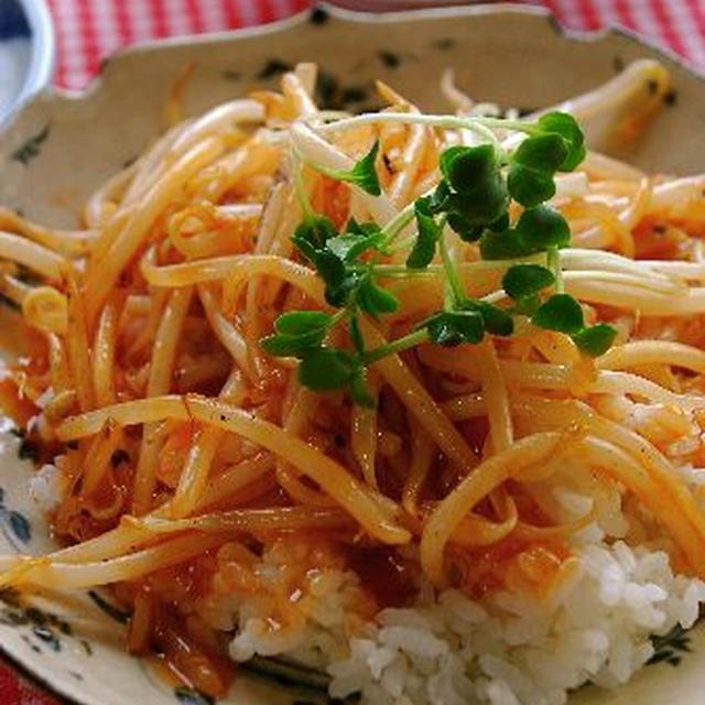 しゃきしゃき☆もやしの中華丼