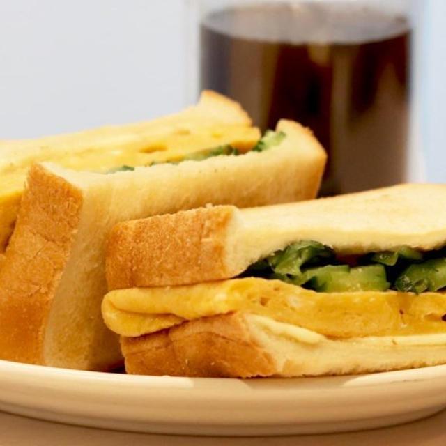 じゅわっとおいしい『だし巻き卵サンド』 #レシピ #朝食 #おうち時間