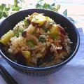 麺つゆで楽々♪さつま芋と豚肉の炊き込みご飯 by TOMO(柴犬プリン)さん