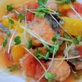 夏にピッタリ☆揚げた鮭と焼きパプリカのマリネ♡