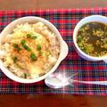 今日は初任給の日【ブランチ】麺つゆたまチーズ丼【晩ごはん】蓮根の甘酢照り焼きごまからめ