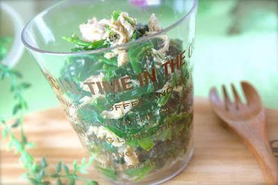 ヤバい!味見が止まらない!ヤミつき♡ホウレン草とササミのピリ辛ナムル《節約*作り置き*おつまみ》