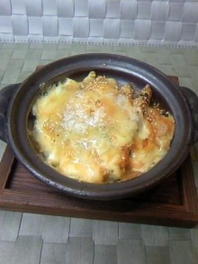 白アスパラの磯チーズ焼き