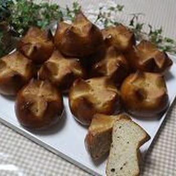 ブルーベリー酵母でパン作り
