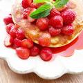 冷え症改善☆朝食パンケーキ温かいストロベリーソース by ルシッカさん