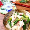 レンジでかんたん作り置き! 鶏むね肉とたたききゅうりのとろねば梅あえ。 by 庭乃桃さん