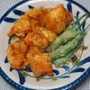 鶏むね肉カレー天ぷら