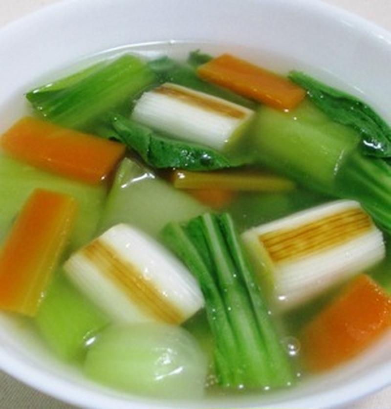 あっという間に中華風!チンゲン菜を使ってスープを作ろう♪   くらしのアンテナ