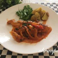 鮭の完熟トマトソース煮