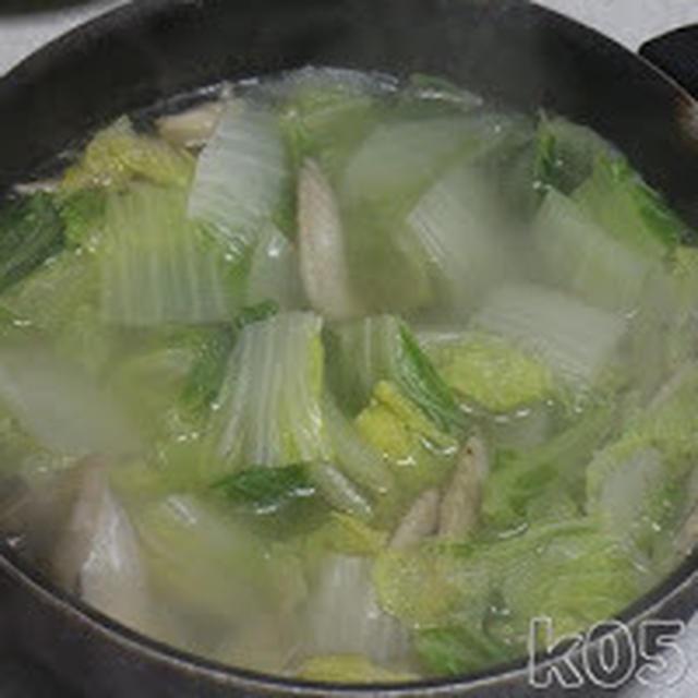 白菜の鶏ガラ煮を作ってみた