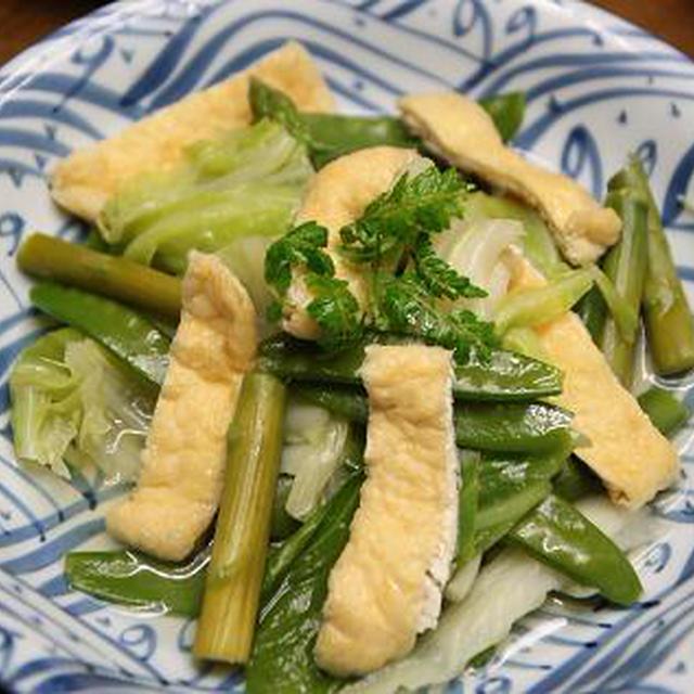 レシピ いろいろ野菜と揚げの煮びたし
