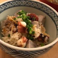 里芋とタコの炊き込みご飯