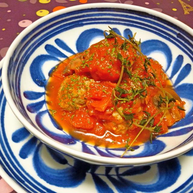 イワシ団子のトマト煮込