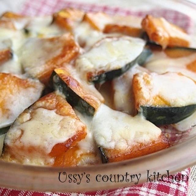 かぼちゃの甘辛ガーリックチーズ焼き