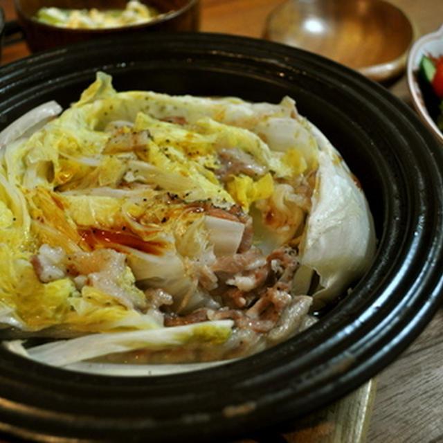 ポン酢のおいしい白菜鍋。