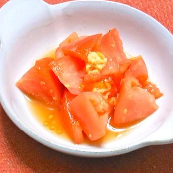 和えるだけで超簡単なのに、これ!美味しい〜トマトの甘酢生姜和え。