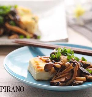 豆腐ステーキ。たっぷりきのこの塩昆布あん♪