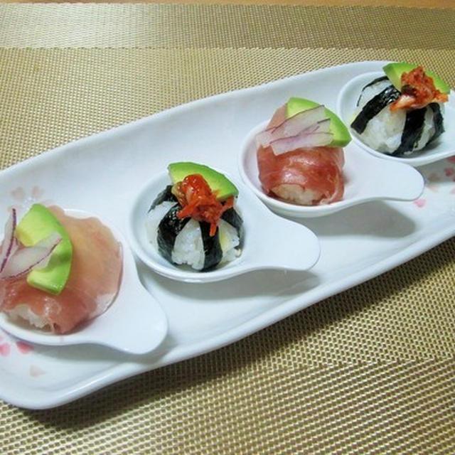 見た目もかわいらしく食べやすい♪ 一口てまり寿司