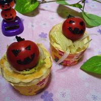 お料理レシピ~ハロウィン仕様のサラダパイ~