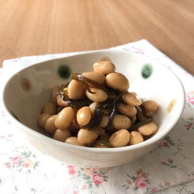 大豆の水煮と塩こんぶで簡単!昆布豆
