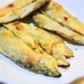 鮎のグリル、セモリナ粉焼き