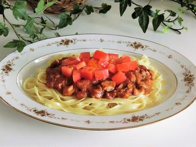 レシピ*和風ボロネーゼ*絶品パスタがソースから盛り付けまで15分 ♪