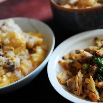 2/13の記録 鶏粥、アサリのネギだれ、蒙古タンメン中本 『冷やし味噌ラーメン』