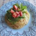セロリとトマトのパスタ