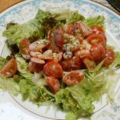 トマトとエビのバジルマヨサラダ