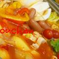 ☆手作りスープでトマト鍋(〃^・^〃)うまかぁ〜☆