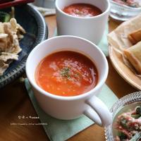 トマト大量消費に❤️濃厚トマトスープ❤️ボーソー米油使用