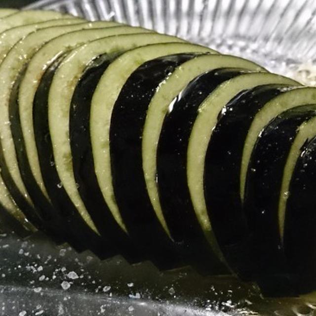 野郎飯流・超カンタンな、水茄子の塩カルパッチョ