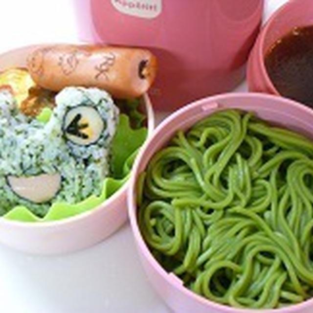 飾り巻き寿司 カエルと茶そば弁当~~ 飾り巻き寿司レッスン6月