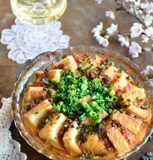 ほっとけレシピ!トースターで簡単「厚揚げとひき肉のトマトすき焼き」