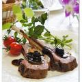 ラムチョップ ブルーベリーバルサミコソース 「 ラム肉(仔羊)背脂つき」頂いちゃいました! by りかりんさん