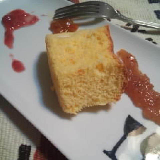 かぼちゃ入り、米粉シフォンケーキ