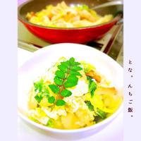 白だしさっと煮で竹輪、レタス、卵とじ。