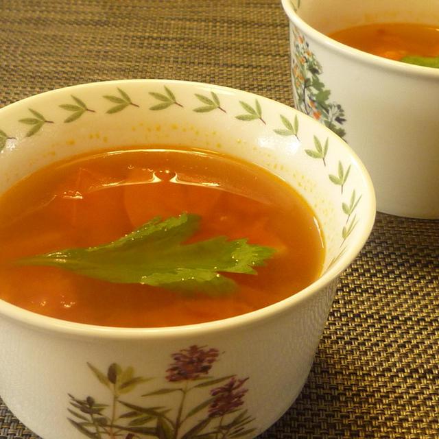 トマトとセロリのエスニックスープ
